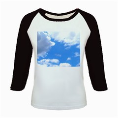 Summer Clouds And Blue Sky Kids Baseball Jerseys