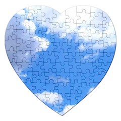 Summer Clouds And Blue Sky Jigsaw Puzzle (heart)