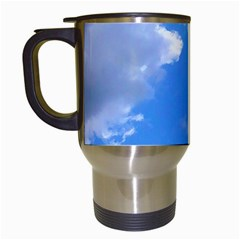 Summer Clouds And Blue Sky Travel Mugs (white) by picsaspassion