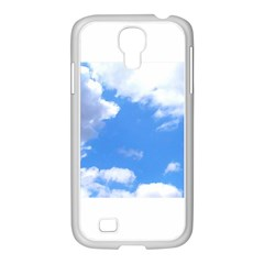 Summer Clouds And Blue Sky Samsung Galaxy S4 I9500/ I9505 Case (white)