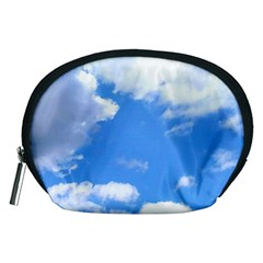 Summer Clouds And Blue Sky Accessory Pouches (medium)  by picsaspassion