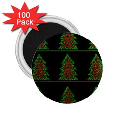 Christmas Trees Pattern 2 25  Magnets (100 Pack)