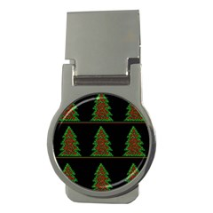 Christmas Trees Pattern Money Clips (round)  by Valentinaart