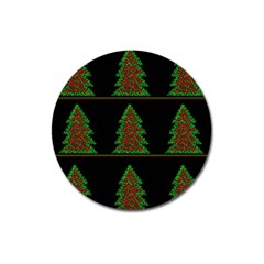 Christmas Trees Pattern Magnet 3  (round) by Valentinaart