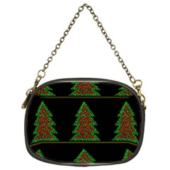 Christmas Trees Pattern Chain Purses (one Side)  by Valentinaart