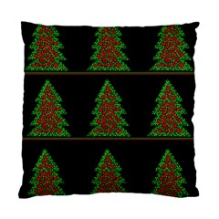 Christmas Trees Pattern Standard Cushion Case (one Side) by Valentinaart