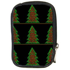 Christmas Trees Pattern Compact Camera Cases by Valentinaart