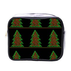 Christmas Trees Pattern Mini Toiletries Bags by Valentinaart