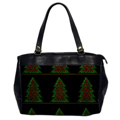 Christmas Trees Pattern Office Handbags by Valentinaart