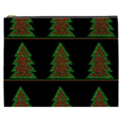 Christmas Trees Pattern Cosmetic Bag (xxxl)  by Valentinaart