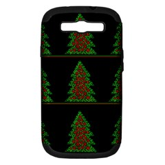 Christmas Trees Pattern Samsung Galaxy S Iii Hardshell Case (pc+silicone) by Valentinaart