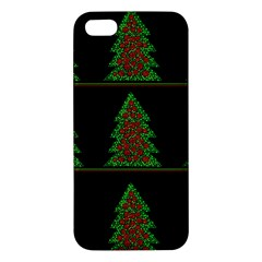 Christmas Trees Pattern Iphone 5s/ Se Premium Hardshell Case by Valentinaart