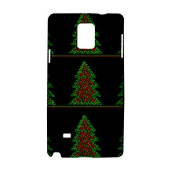 Christmas Trees Pattern Samsung Galaxy Note 4 Hardshell Case by Valentinaart