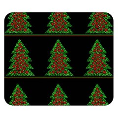 Christmas Trees Pattern Double Sided Flano Blanket (small)  by Valentinaart