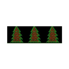 Christmas Trees Pattern Satin Scarf (oblong) by Valentinaart
