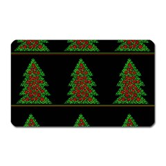 Christmas Trees Pattern Magnet (rectangular) by Valentinaart