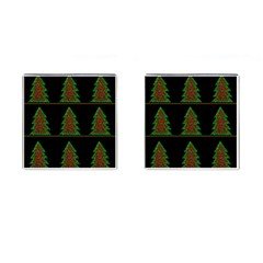 Christmas Trees Pattern Cufflinks (square) by Valentinaart