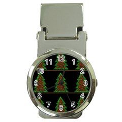 Christmas Trees Pattern Money Clip Watches by Valentinaart