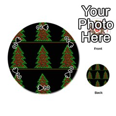 Christmas Trees Pattern Playing Cards 54 (round)  by Valentinaart