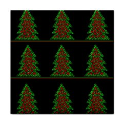 Christmas Trees Pattern Face Towel by Valentinaart