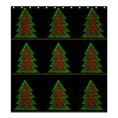 Christmas Trees Pattern Shower Curtain 66  X 72  (large)  by Valentinaart