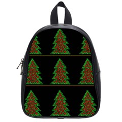 Christmas Trees Pattern School Bags (small)  by Valentinaart
