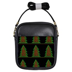 Christmas Trees Pattern Girls Sling Bags by Valentinaart