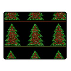 Christmas Trees Pattern Fleece Blanket (small) by Valentinaart