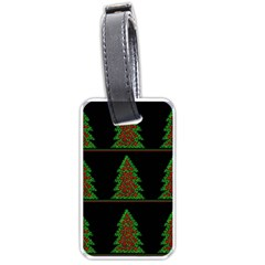 Christmas Trees Pattern Luggage Tags (two Sides) by Valentinaart
