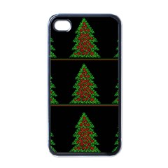 Christmas Trees Pattern Apple Iphone 4 Case (black) by Valentinaart