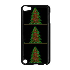 Christmas Trees Pattern Apple Ipod Touch 5 Case (black) by Valentinaart