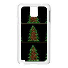 Christmas Trees Pattern Samsung Galaxy Note 3 N9005 Case (white) by Valentinaart