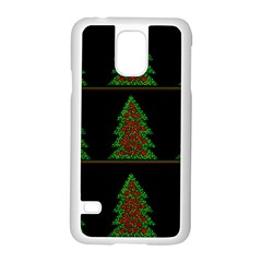 Christmas Trees Pattern Samsung Galaxy S5 Case (white) by Valentinaart