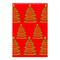 Christmas Trees Red Pattern Shower Curtain 48  X 72  (small)  by Valentinaart