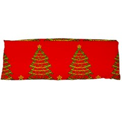 Christmas Trees Red Pattern Body Pillow Case Dakimakura (two Sides)