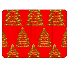 Christmas Trees Red Pattern Samsung Galaxy Tab 7  P1000 Flip Case