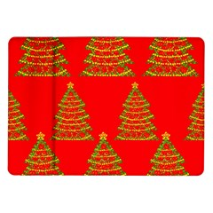 Christmas Trees Red Pattern Samsung Galaxy Tab 10 1  P7500 Flip Case by Valentinaart