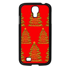 Christmas Trees Red Pattern Samsung Galaxy S4 I9500/ I9505 Case (black) by Valentinaart