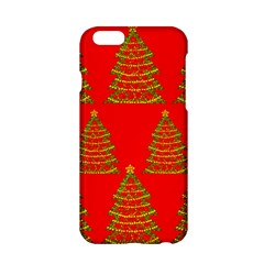 Christmas Trees Red Pattern Apple Iphone 6/6s Hardshell Case by Valentinaart