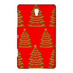 Christmas Trees Red Pattern Samsung Galaxy Tab S (8 4 ) Hardshell Case