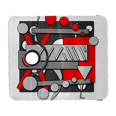 Gray And Red Geometrical Design Samsung Galaxy S  Iii Flip 360 Case by Valentinaart