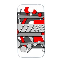 Gray And Red Geometrical Design Samsung Galaxy S4 I9500/i9505  Hardshell Back Case