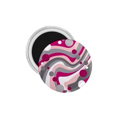 Magenta, Pink And Gray Design 1 75  Magnets by Valentinaart