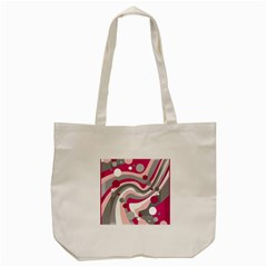 Magenta, Pink And Gray Design Tote Bag (cream) by Valentinaart