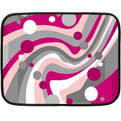 Magenta, Pink And Gray Design Double Sided Fleece Blanket (mini)  by Valentinaart