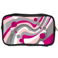 Magenta, Pink And Gray Design Toiletries Bags 2 Side
