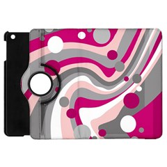 Magenta, Pink And Gray Design Apple Ipad Mini Flip 360 Case by Valentinaart