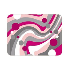 Magenta, Pink And Gray Design Double Sided Flano Blanket (mini)  by Valentinaart