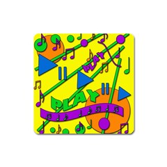 Music Square Magnet by Valentinaart