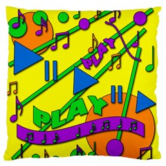 Music Standard Flano Cushion Case (two Sides) by Valentinaart